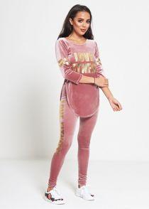 Pink Velvet Love Fitness Tracksuit