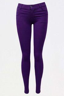 Purple Stretch Slim Fit Skinny Jegging