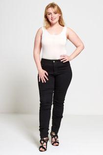 Plus Size Contrast Stitch Skinny Jeans