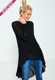 Plus Size Lightweight Knit Fishtail Top