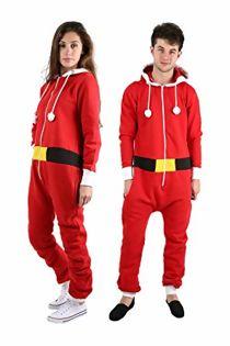 Red Kids Santa Christmas Onesie