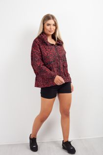 Red Leopard Light Weight Hooded Jacket