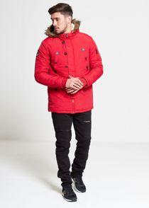 Red Noel Fur Hood Parka