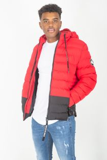 Red Puffer Hood Jacket