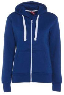 Royal Blue Basic Hooded Jacket