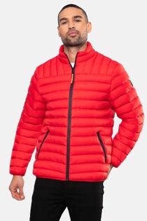 Red Funnel Neck Garnock Padded Jacket