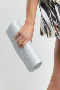 Silver Glee Chain Clutch