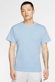 Sky Blue Nike T-Shirt With Embroidered Swoosh
