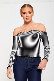 Striped Off Shoulder Top