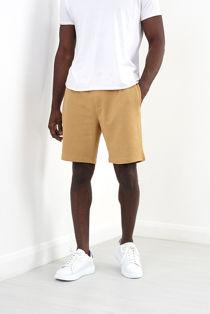 Tan Jersey Sweat Shorts