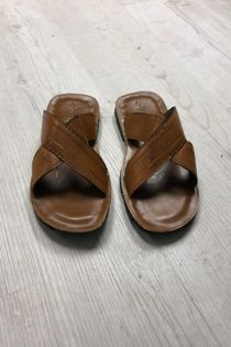 Brown Crossover Slippers