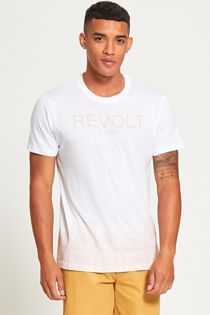 White Be Free Revolt Slogan T-Shirt