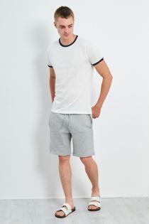 White Contrast Crew T-Shirt