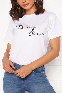 White Dancing Queen Tee