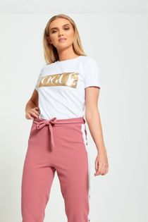 White Glitter Vogue T-Shirt