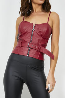 Wine Biker Bralet Top