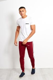 Wine Man Logo Double Stripe Jogging Bottom