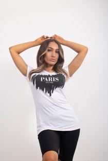 White Heart PARIS Tee