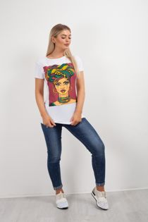 Black Tropical Women T-shirt