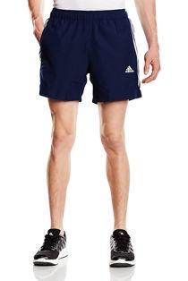 Navy Adidas Mens Essentials 3-Stripes Chelsea Shorts
