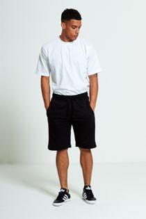 Black Sport Stripe Sweat Shorts