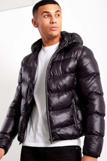 Black Puffer Down Jacket