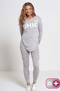 Plus Size Grey NO9 Chic Tracksuit