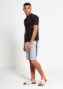 Grey Sport Stripe Sweat Shorts