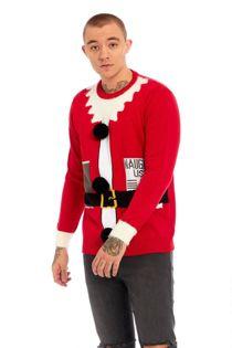 Santa Suit Fine Knit Christmas Jumper