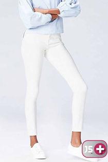Plus Size Five Pocket White Jeans