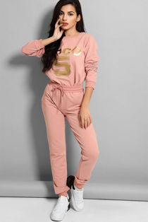 Pink Coco 5 Lounge Tracksuit