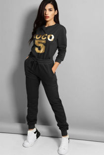 Black Coco 5 Lounge Tracksuit