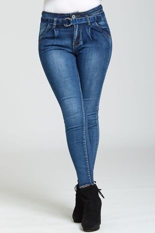 Blue Faded Stretch Skinny Fit Jeans