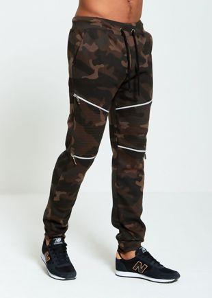 Camo Zipper Jogging Bottom