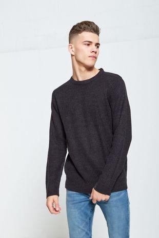 Charcoal Fine Knit Jumper