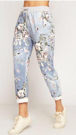 Floral Printed Turn Up Hoop Trouser