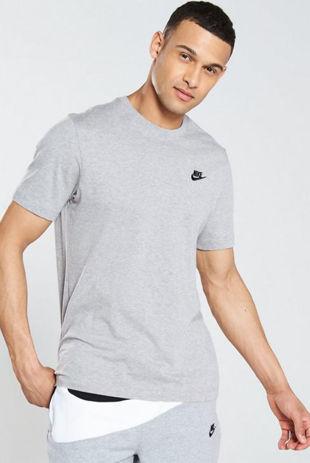 Grey Nike Club T-Shirt