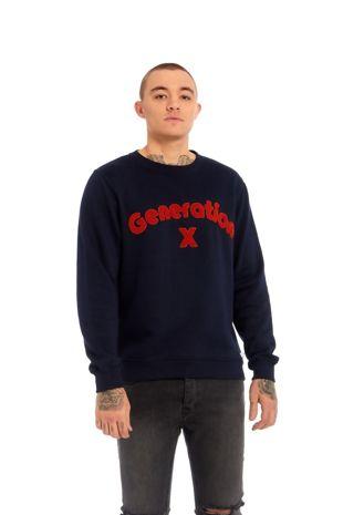 Navy Blue X Generation Pullover Jumper