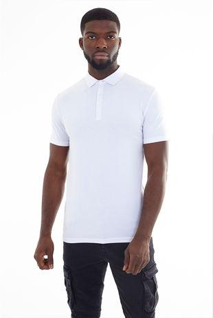 Plain Muscle Fit Short Sleeve Polo Shirt