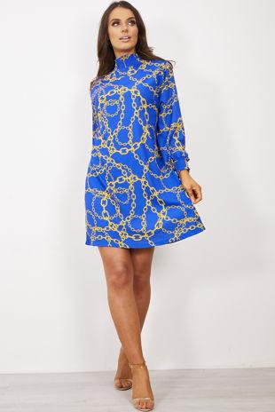 Victorian Collar Printed Dress