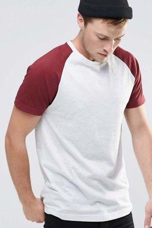 Wine Raglan Short Sleeve T-Shirt