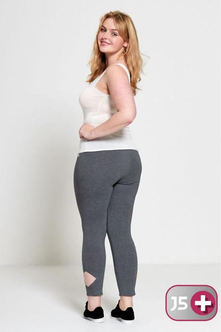 Dark Grey Plus Size Laser Cut Leggings