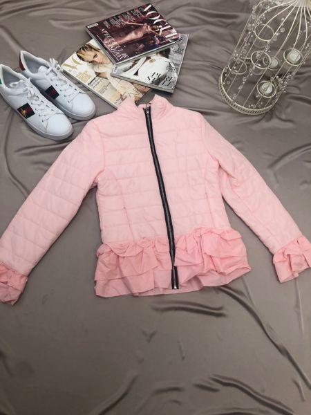 Pink Padded Peplum Jacket