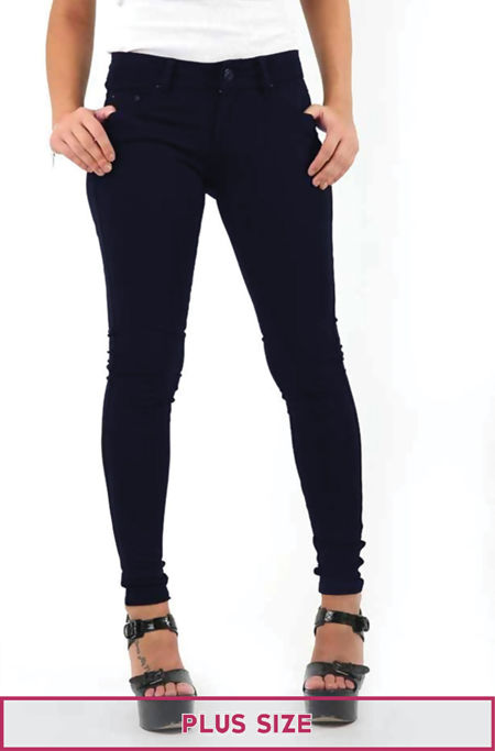 Plus Size Navy Stretch Slim Fit Skinny Jegging