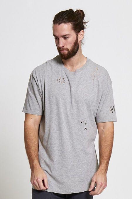 Grey Distressed T-Shirt
