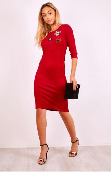 Khaki Suede Bodycon Mini Dress