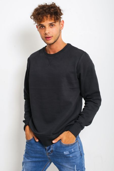 Cotton Marl Crew Neck Sweatshirt