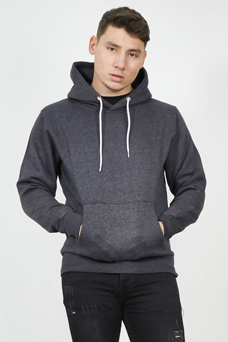 Charcoal Flex Fleece Pullover Hoodies-