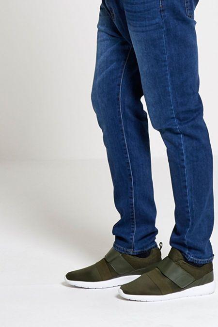 Khaki Velcro Strap Trainers