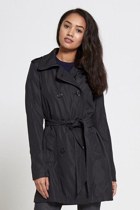 Shiny Black Brave Soul Trench Coat